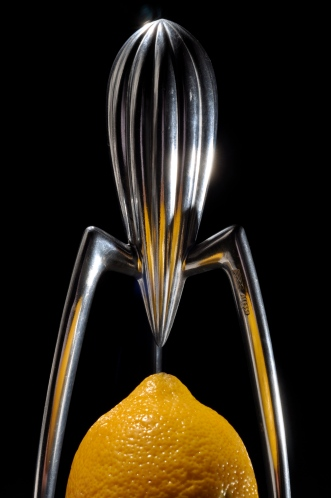 Juicy Salif lemon juicer by Philippe Starck. Designed for Alessi (1990).
